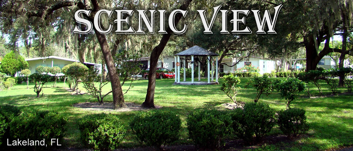 A picture of the park gazebo at Scenic View Mobile Home Court in Lakelane, Florida